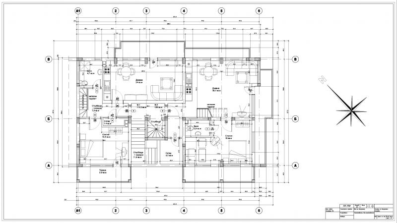 Drawing of architectural drawings from a hard copy in AutoCAD